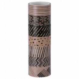 Клейкие WASHI-ленты для декора КОФЕЙНЫЕ ЦВЕТА, 15 мм х 3 м, 7 цветов, рисовая бумага, ОСТРОВ СОКРОВИЩ, 661706