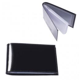 Визитница карманная BEFLER Classic на 40 визиток, натуральная кожа, черная, V.30.-1
