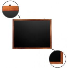 Доска для мела магнитная BRAUBERG, 90х120 см, черная, деревянная окрашенная рамка, Россия, 236893