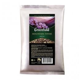Чай GREENFIELD (Гринфилд) Mountain Thyme, черный с чабрецом, листовой, 250 г, пакет, 1142-15