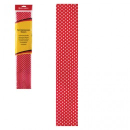 Цветная бумага крепированная, горошек, растяжение до 25%, 22 г/м2, BRAUBERG, европодвес, 50х200 см, 127938
