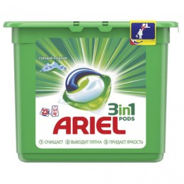 Средство для стирки в капсулах 23 шт. по 27 г ARIEL (Ариэль) Горный родник, 1001922