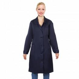 Халат технолога женский синий, смесовая ткань, размер 48-50, рост 158-164, плотн. 150