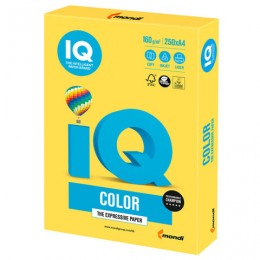 Бумага IQ color, А4, 160 г/м2, 250 л., интенсив, канареечно-желтая, CY39