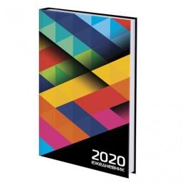 Ежедневник датированный 2020 А5, ламинированная обложка, Геометрия, 145*215 мм, BRAUBERG, 110916