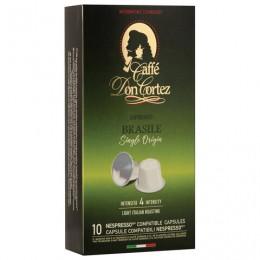 Капсулы для кофемашин NESPRESSO BRASILE, натуральный кофе, Италия, 10 шт. х 5,2 г, DON CORTEZ