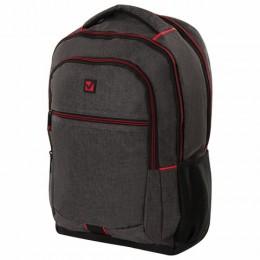 Рюкзак BRAUBERG универсальный, с отделением для ноутбука, BOSTON, серый, 47х30х14 см, 228867