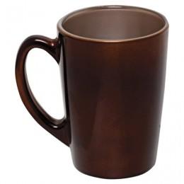 Кружка для чая и кофе, объем 320 мл, коричневая,