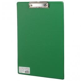 Доска-планшет BRAUBERG Comfort с прижимом А4 (230х350 мм), картон/ПВХ, РОССИЯ, ЗЕЛЕНАЯ, 222663