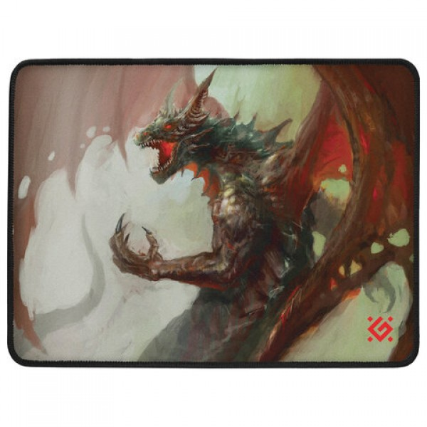Коврик для мыши игровой DEFENDER Dragon Rage M, ткань + резина, 360x270x3 мм, 50558