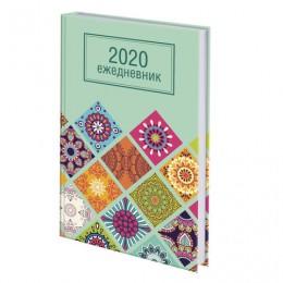 Ежедневник датированный 2020 А5, ламинированная обложка, Орнамент, 145*215 мм, BRAUBERG, 110912