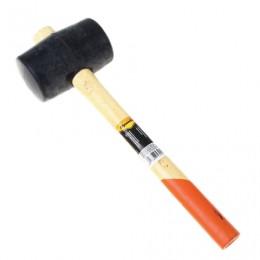 Киянка резиновая 680 г, SPARTA, черная резина, двухцветная деревянная рукоятка, 111555