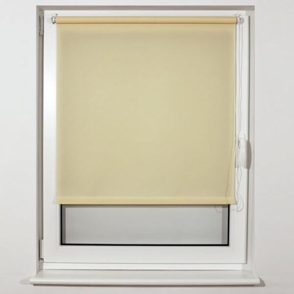 Штора рулонная BRABIX 100х175 см, текстура - лён, защита 55-85%, 200 г/м2, кремовый S-21, 605998