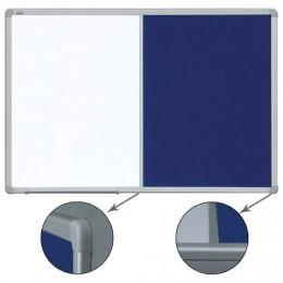 Доска магнитно-маркерная/текстильная 90x120 см, алюминиевая рамка,