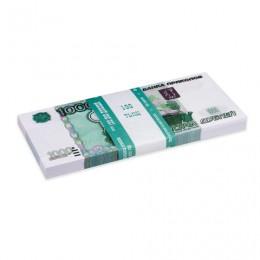 Деньги шуточные 1000 рублей, упаковка с европодвесом, AD0000114