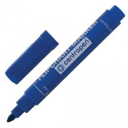 Маркер для флипчарта CENTROPEN, непропитывающий, круглый наконечник, 2,5 мм, синий, 8550/1С