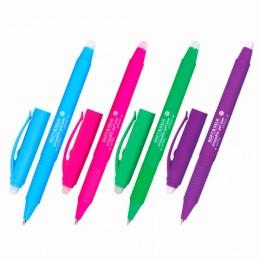 Ручка стираемая гелевая с грипом BRAUBERG SOFT&SILK FRUITY, СИНЯЯ, корпус ассорти, узел 0,7мм,143254