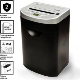 Уничтожитель (шредер) BRAUBERG S22-S, 2 уровня секретности, полоски 4 мм, 22 листа, 35 л, CD, 531773