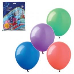 Шары воздушные 14 (36 см), комплект 100 шт., 12 пастельных цветов, в пакете, 1101-0010