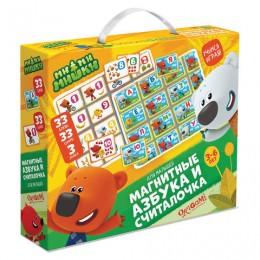 Набор обучающий МиМиМишки Магнитные азбука и считалочка, 33 буквы, 33 цифры, 3 знака, ORIGAMI, 03655