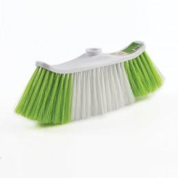 Щетка для уборки, ширина 25с м, щетина 8 см двуцветная, пластик, крепление еврорезьба, ЛЮБАША, 605030