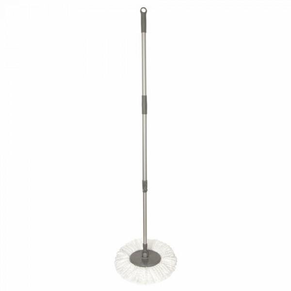Швабра для наборов для уборки с круглой насадкой из микрофибры, черенок 130 см, LAIMA, 606745