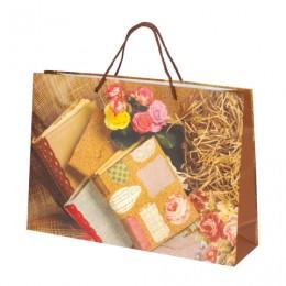 Пакет подарочный ламинированный, 38x27x10 см, Книги