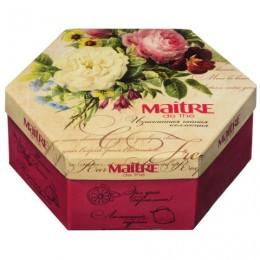 Чай MAITRE de The (Мэтр) Цветы, АССОРТИ 12 вкусов, 60 пакетиков в конвертах, 120 г, баж 082