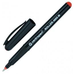 Ручка-роллер CENTROPEN, трехгранная, корпус черный, узел 0,7 мм, линия 0,6 мм, красная, 4665/1К