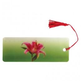 Закладка для книг с линейкой, 3D-объемная, BRAUBERG Удивительный цветок, с декоративным шнурком, 128095