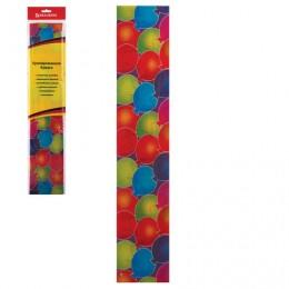 Цветная бумага крепированная шарики, растяжение до 25%, 22 г/м2, BRAUBERG, европодвес, 50х200 см, 127939