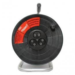 Удлинитель на катушке РАДИСТ РК16, 3 розетки без заземления, 30 м, 2х0,75 мм, 1300 Вт, черный, 1653