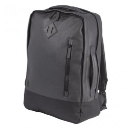 Рюкзак BRAUBERG молодежный с отделением для ноутбука, Квадро, искуственная кожа, черный, 44х29х13 см, 227088