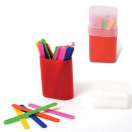 Счетные палочки ПЧЕЛКА, 30 шт., ассорти, в пластиковом пенале, СПК-30