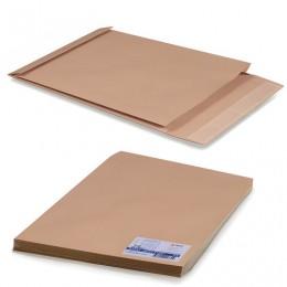 Конверт-пакет Е4+ объемный, комплект 25 шт.,300х400х40 мм, отрывная полоса, крафт-бумага, коричневый, на 300 листов, 302127.25
