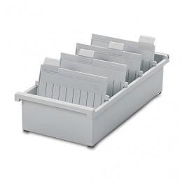 Картотека пластиковая HAN (Германия), А5, открытая, горизонтальная, на 1300 карточек, 210х148 мм, серая, НА955/0/11