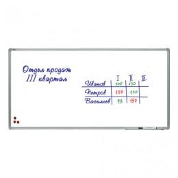 Доска магнитно-маркерная (120х240 см), алюминиевая рамка, лаковое покрытие, 2х3 (Польша), TSA1224
