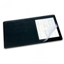 Коврик-подкладка настольный для письма DURABLE (Германия), c прозрачным листом, 40х53 см, черный, 7202-01