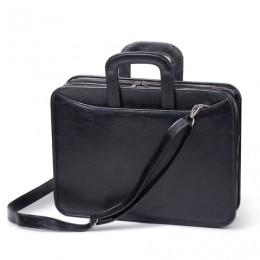 Портфель Карьера, 36х31х7 см, искусственная кожа, 2 отделения, на молнии, черный