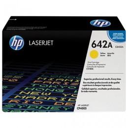 Картридж лазерный HP (CB402A) ColorLaserJet CP4005, желтый, оригинальный, ресурс 7500 стр.