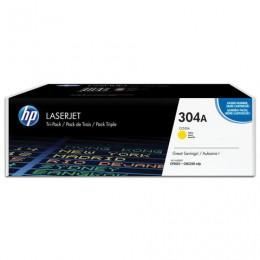 Картридж лазерный HP (CC532A) ColorLaserJet CP2025/CM2320, желтый, оригинальный, ресурс 2800 страниц