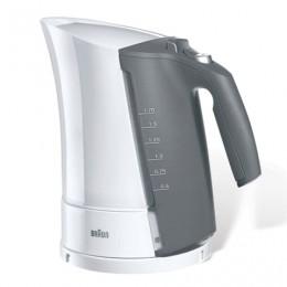 Чайник BRAUN WK-300, 1,7 л, 2200 Вт, закрытый нагревательный элемент, пластик, белый