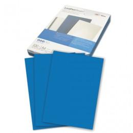 Обложки картонные для переплета А4, КОМПЛЕКТ 100 шт., тиснение под кожу, 250 г/м2, синие, GBC, 040020/4401981