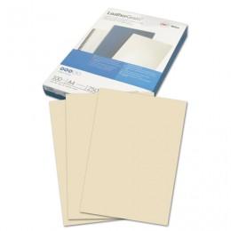Обложки картонные для переплета А4, КОМПЛЕКТ 100 шт., тиснение под кожу, 250 г/м2, слоновая кость, GBC, CE040065