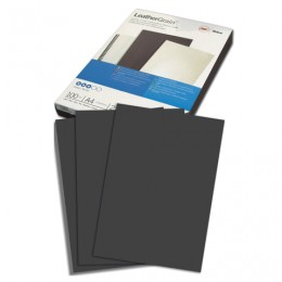 Обложки картонные для переплета А4, КОМПЛЕКТ 100 шт., тиснение под кожу, 250 г/м2, черные, GBC, 040010/4401980