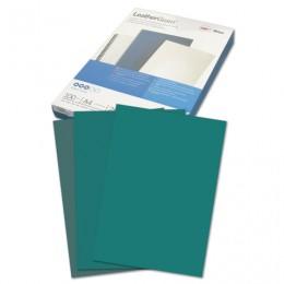 Обложки картонные для переплета А4, КОМПЛЕКТ 100 шт., тиснение под кожу, 250 г/м2, зеленые, GBC, CE040045