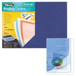 Обложки пластиковые для переплета А3, КОМПЛЕКТ 100 шт., 200 мкм, прозрачные, FELLOWES, FS-53764