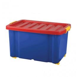 Ящик для хранения игрушек 60 л, 39,3х59,3х33,9 см, на колесах, с крышкой,