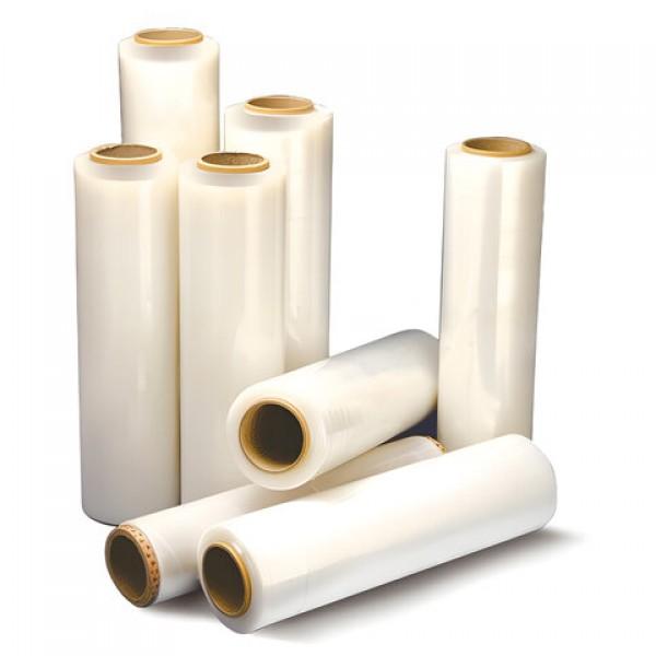 Стрейч-пленка для ручной упаковки 50 см х 307 м, 17 мкм, 2,4 кг - нетто, ПЕРВИЧНОЕ СЫРЬЕ, растяжение 300%