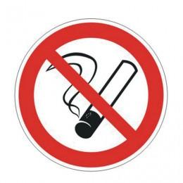 Знак запрещающий Запрещается курить, круг, диаметр 200 мм, самоклейка, 610001/Р 01
